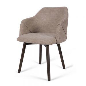 כסא מרופד ברנד אפור