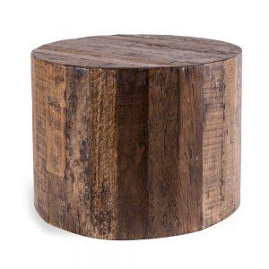 שולחן צד עגול מעץ INDI