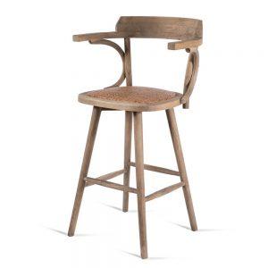 כסא בר עם ידיות עץ ריי
