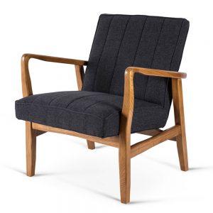 כורסא מעוצבת אפורה BELA