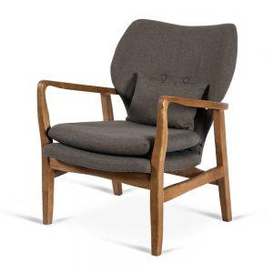 כורסא מעוצבת קאילה אפורה