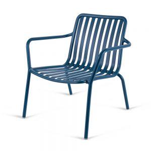 כסא אלומיניום נמוך Relax כחול