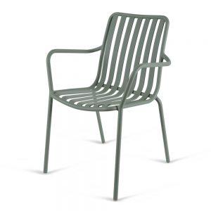 כסא אלומיניום עם ידיות River.H ירוק זית