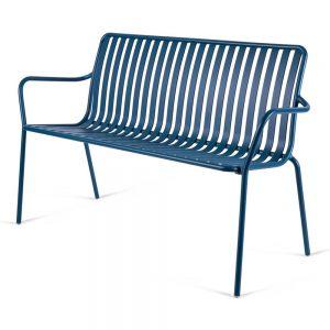 ספסל אלומיניום לגינה SOL כחול