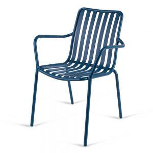 כסא אלומיניום עם ידיות River.H כחול