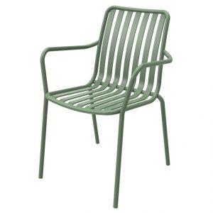 כסא אלומיניום עם ידיות River.H קקטוס