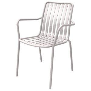 כסא אלומיניום עם ידיות River.H לבן