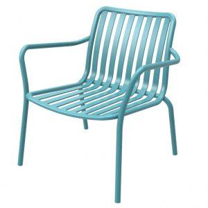 כסא אלומיניום נמוך Relax טורקיז