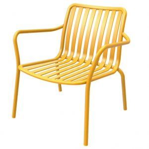 כסא אלומיניום נמוך Relax צהוב