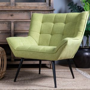 כורסא מעוצבת מנדי ריבועים ירוקה