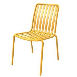 כסא אלומיניום River צהוב