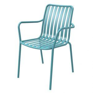 כסא אלומיניום עם ידיות River.H טורקיז