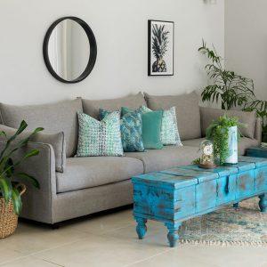 ספה מעוצבת מרי אפור בהיר