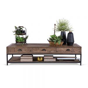 שולחן קפה מגירות 160 מעץ מלא