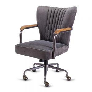 כסא מנהלים 'גייטס' אפור כהה