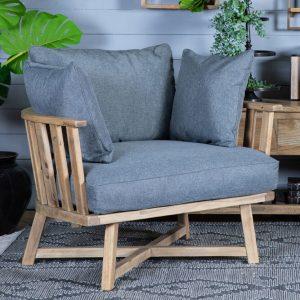 כורסא מעוצבת קלאודיה אפורה