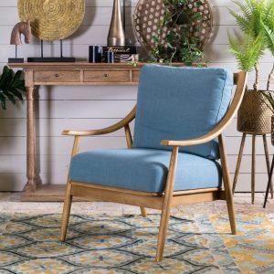 כורסא מעוצבת הלנה תכלת