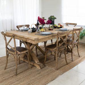 שולחן אבירים נפתח מעץ מלא