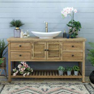 ארון אמבטיה כפרי סולם תריס 150