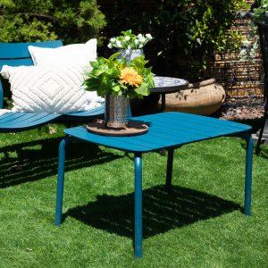 שולחן קפה לגינה דגם רויאל כחול